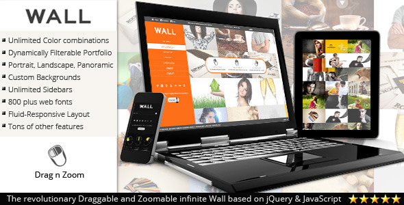 ThemeForest Wall Responsive theme for WordPress 3245581