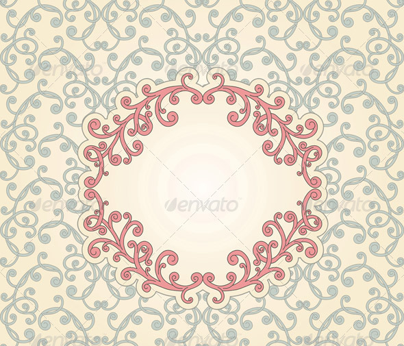 GraphicRiver Vector Floral seamless Pattern with Floral Frame 3271250
