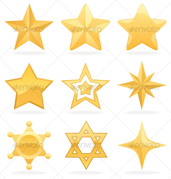 GraphicRiver Golden Star Icons 115353
