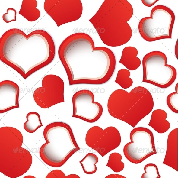 GraphicRiver Red Hearts Seamless Backgrounds 3256029
