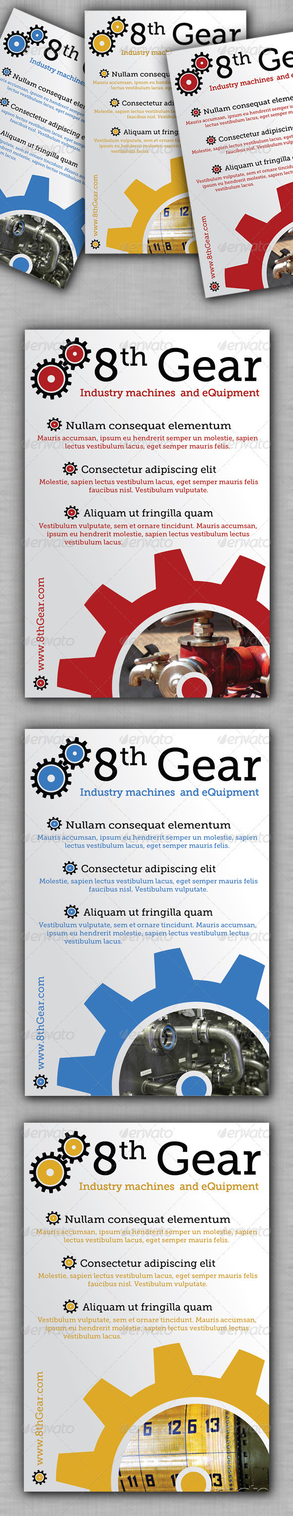 GraphicRiver Industry Machines Flyer 3271561