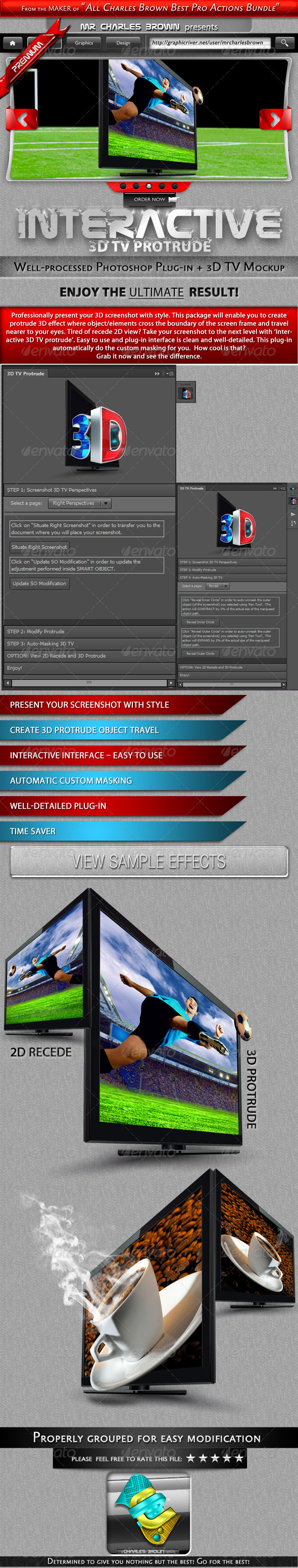 GraphicRiver Interactive 3D TV Protrude 3271592