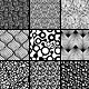 15 Black and White Floral Seamless Patterns