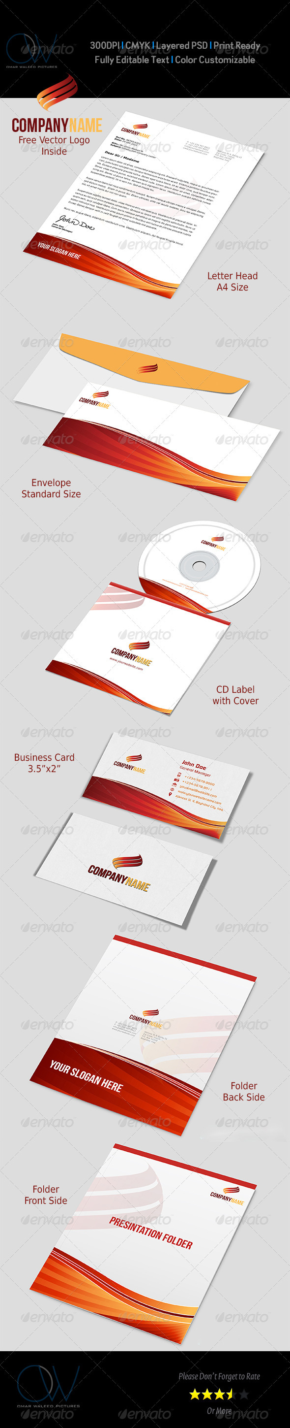 GraphicRiver Corporate Stationery Pack Vol.1 3271603