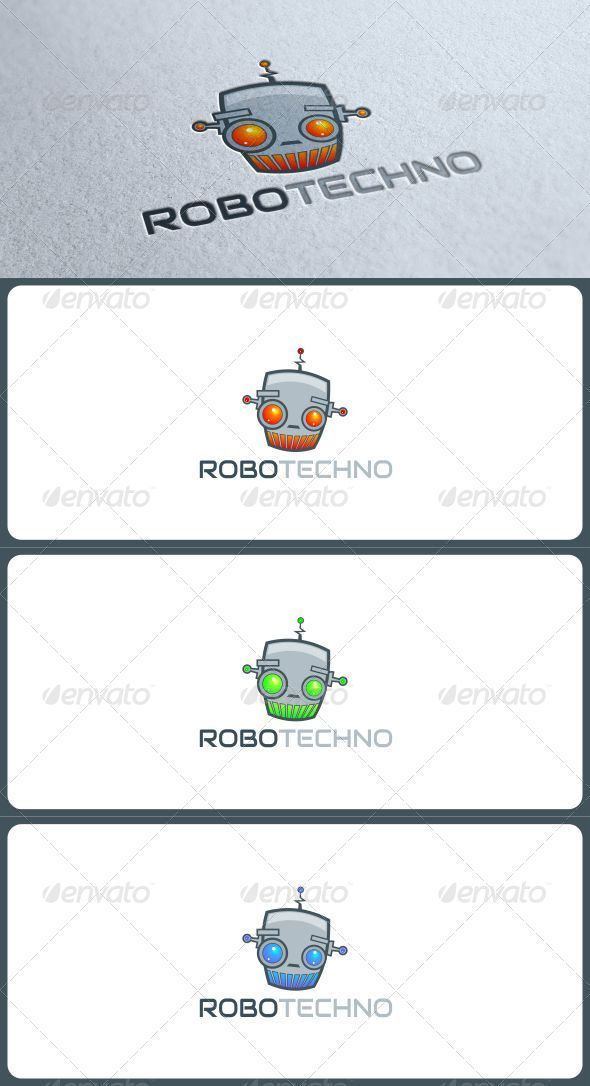 GraphicRiver Robotechno Logo in 3 Colors 3271604