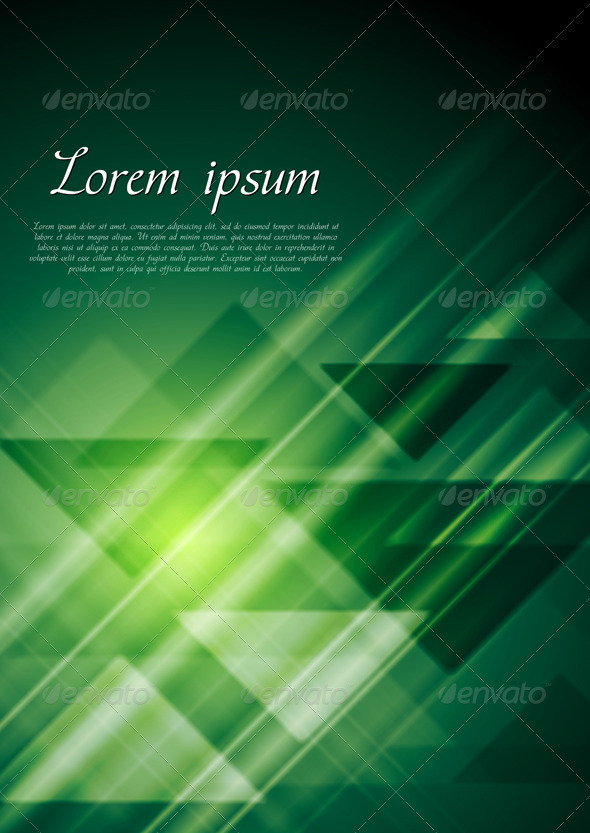 Bright green geometrical background. Vector - Backgrounds Decorative