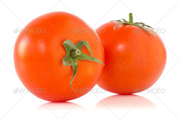 Two Ripe Tomatoes - Stock Photo - Images