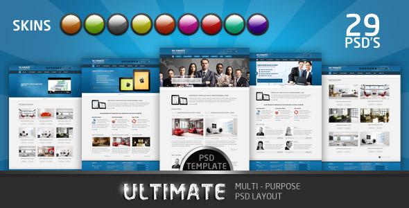 ThemeForest Ultimate Multi Purpose PSD Template 3271621