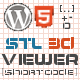 WordPress STL 3D Viewer Shortcode