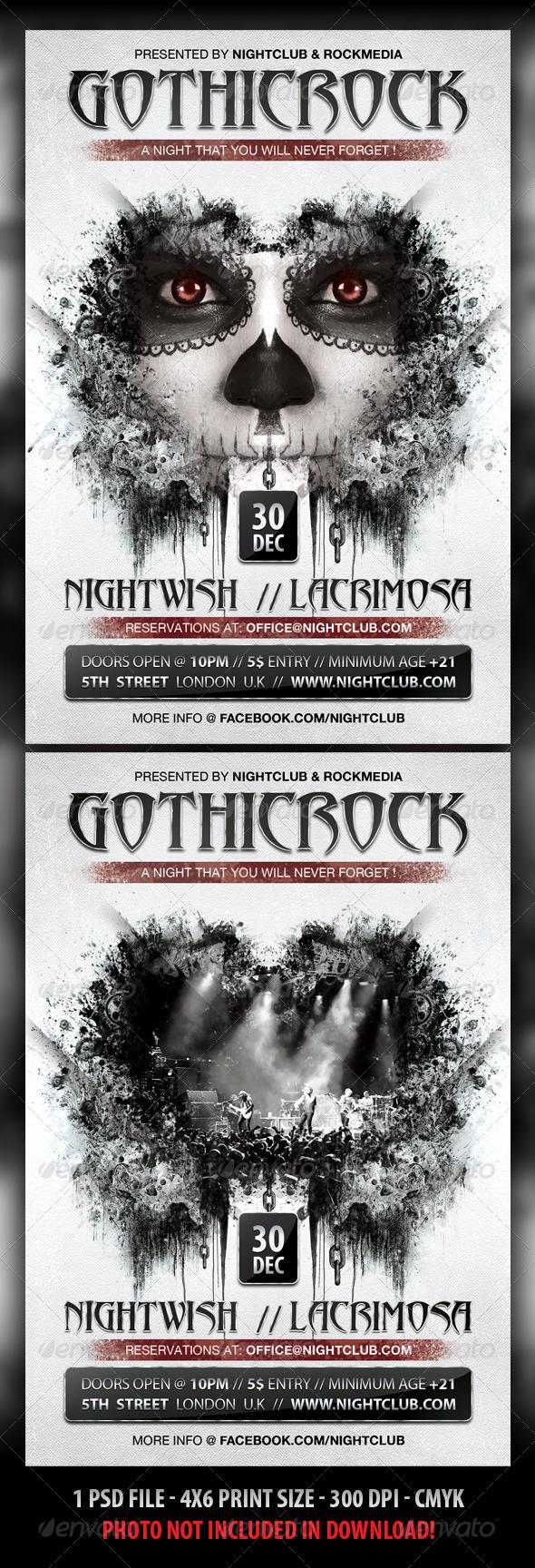Gothic Rock Concert / Party Flyer - Concerts Events