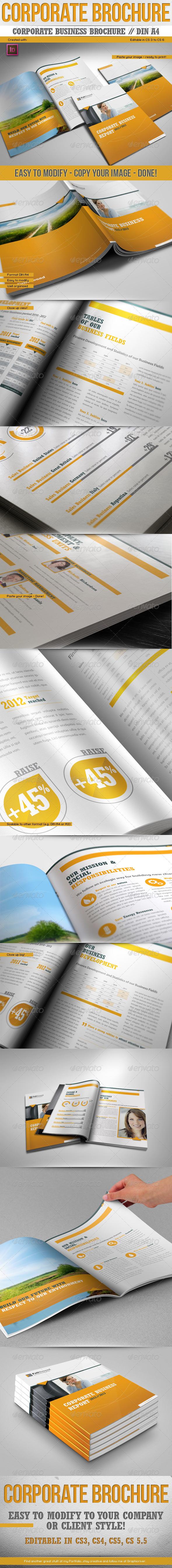 GraphicRiver Corporate Business Report Din A4 Premium 3272196