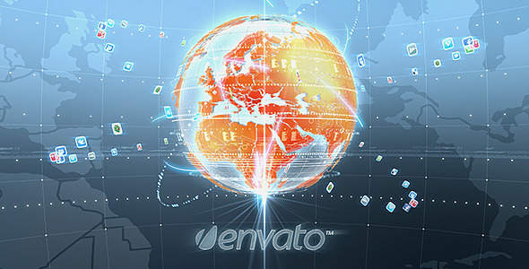 After Effects Project - VideoHive Earth Socials 3233643