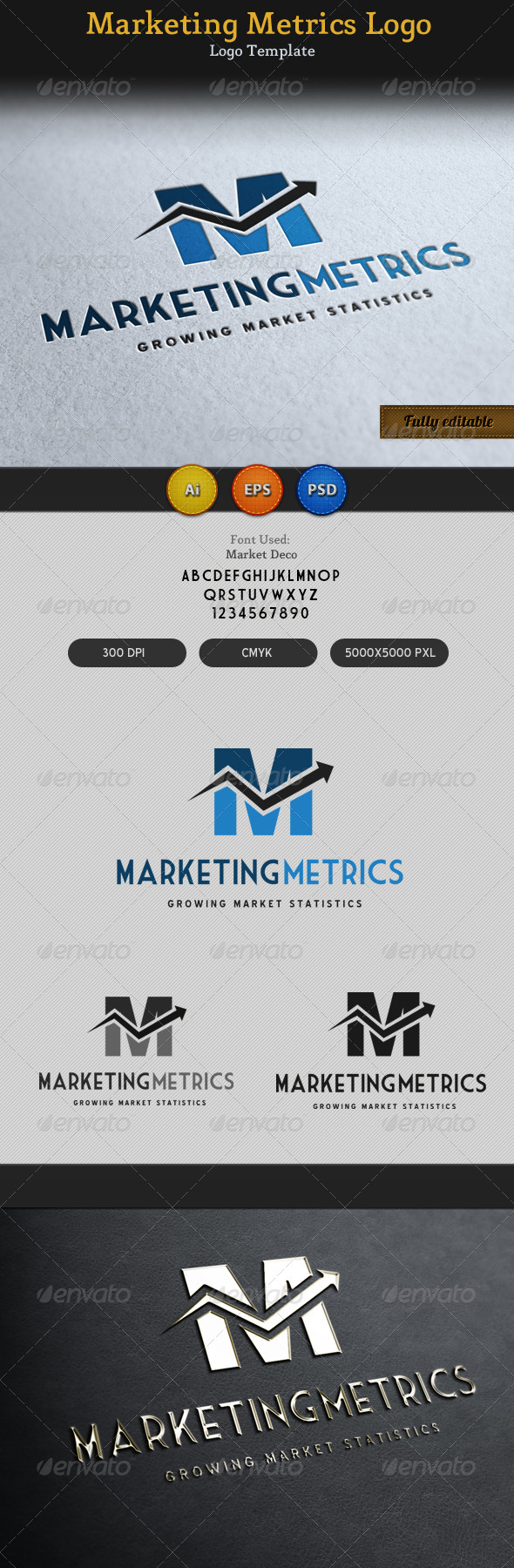 GraphicRiver Marketing Metrics Logo 2 3267236