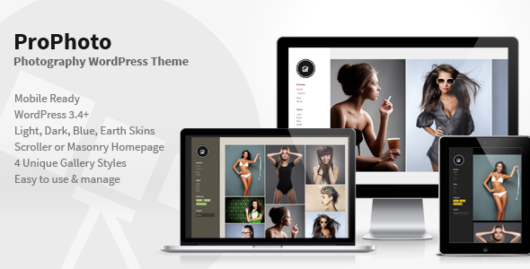 PhotoPro - Photography WordPress Theme