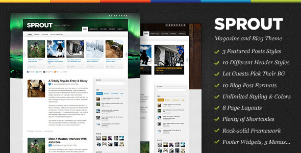 ThemeForest Sprout Magazine & Blog WordPress Theme 1779701