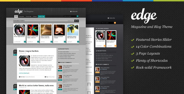 ThemeForest Edge Magazine & Blog WordPress Theme 677103