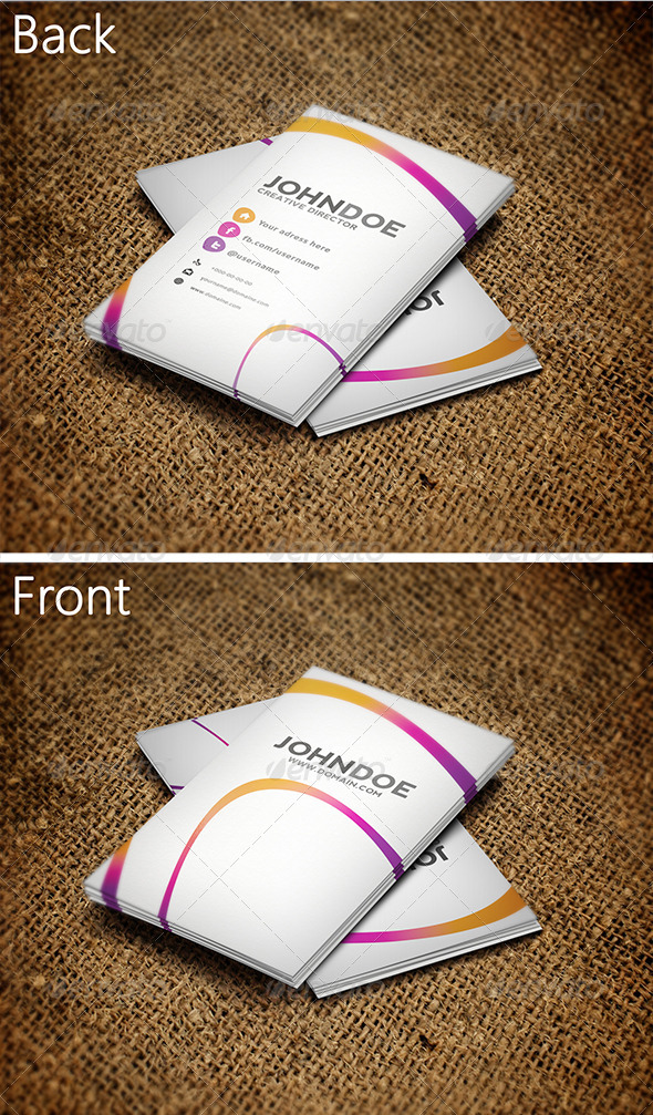 GraphicRiver Colorful Business Card 3272399