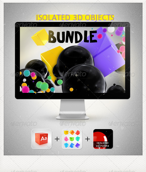 GraphicRiver Isolated 3D Objects Bundle 3272445