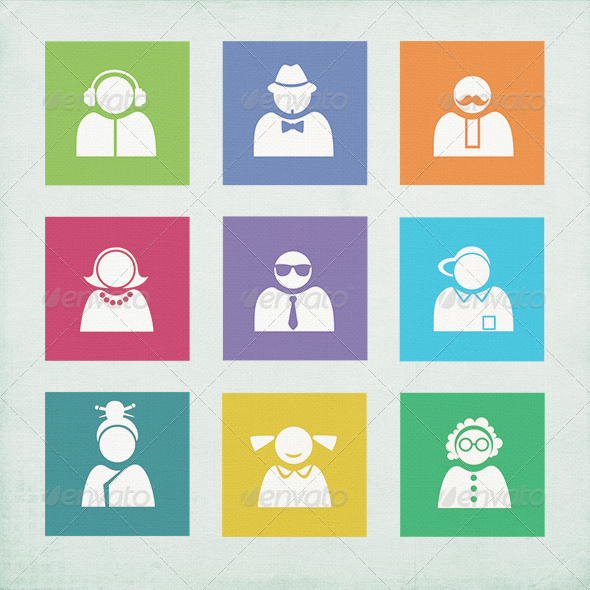 GraphicRiver Buddy Icons for Windows 8 3272464