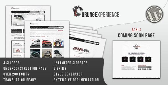Grungexperience - Premium Wordpress Theme - Portfolio Creative