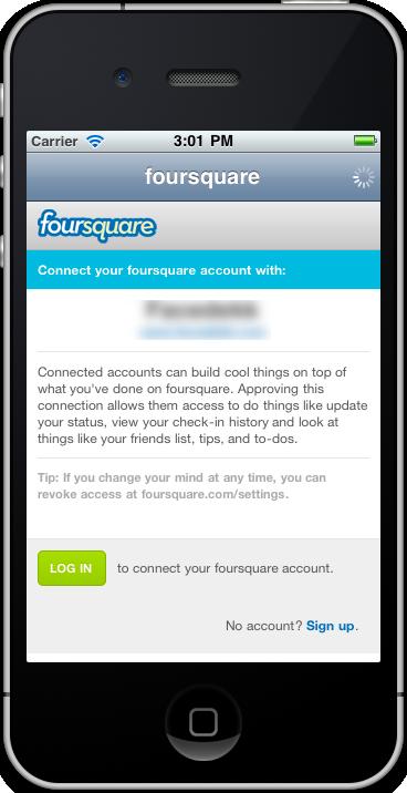 Foursquare oAuth