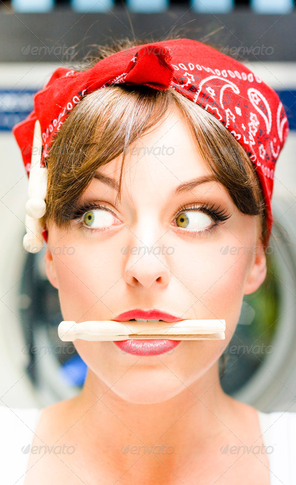 Crazy About House Work - Stock Photo - Images