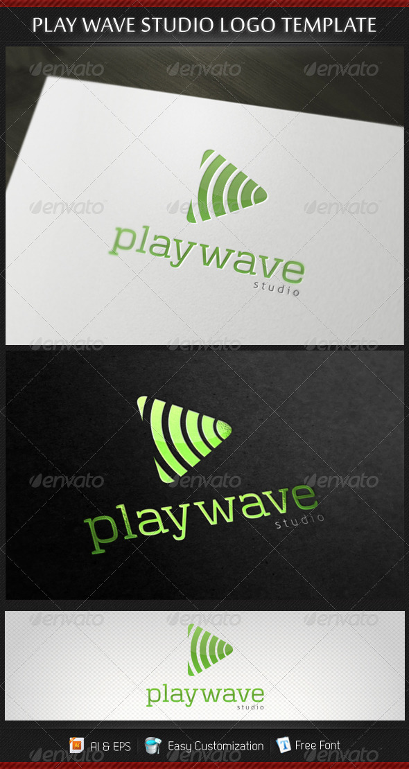 GraphicRiver Play Wave Studio Logo Template 3267626