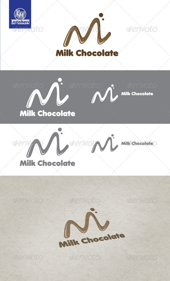 Milk Chocolate Logo Template