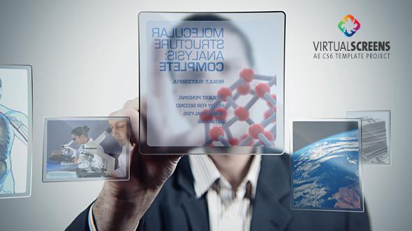 VideoHive Virtual Glass Screens 3257245