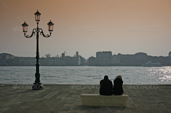 Couple in Venice - Stock Photo - Images