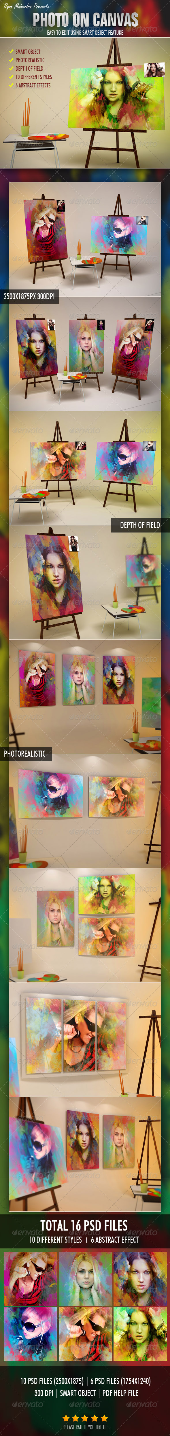 GraphicRiver Photo On Canvas 3273462