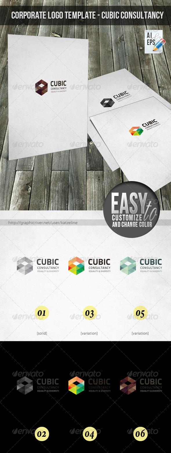 GraphicRiver Corporate Logo Cubic 3273466