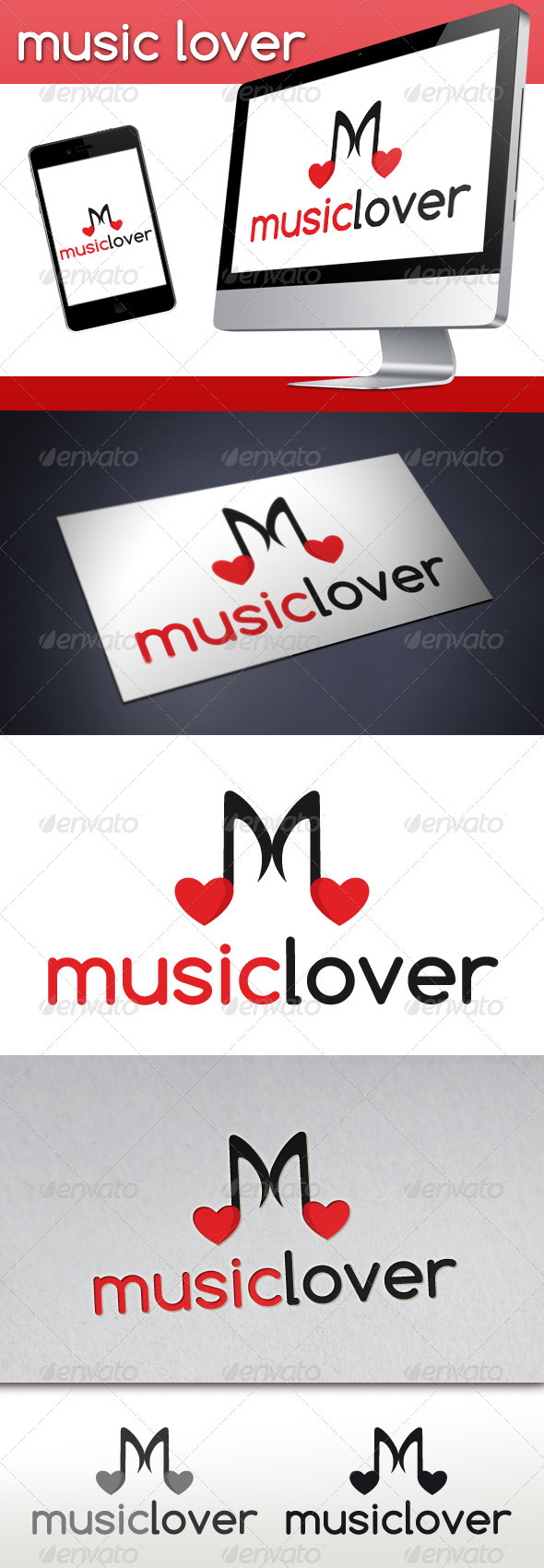 GraphicRiver Love Music Logo 3272355