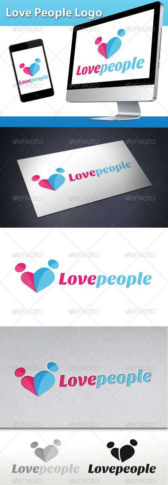 GraphicRiver Love People Logo 3271564