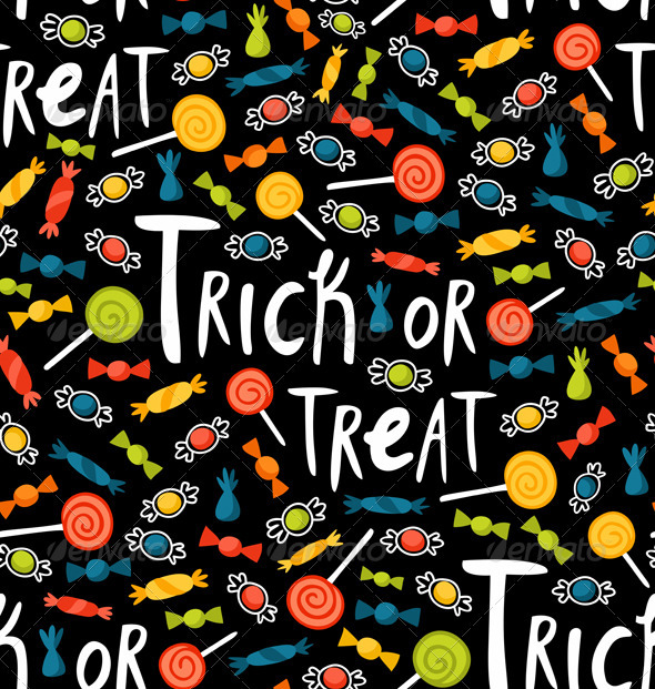 GraphicRiver Trick-or-treat Pattern 3273706