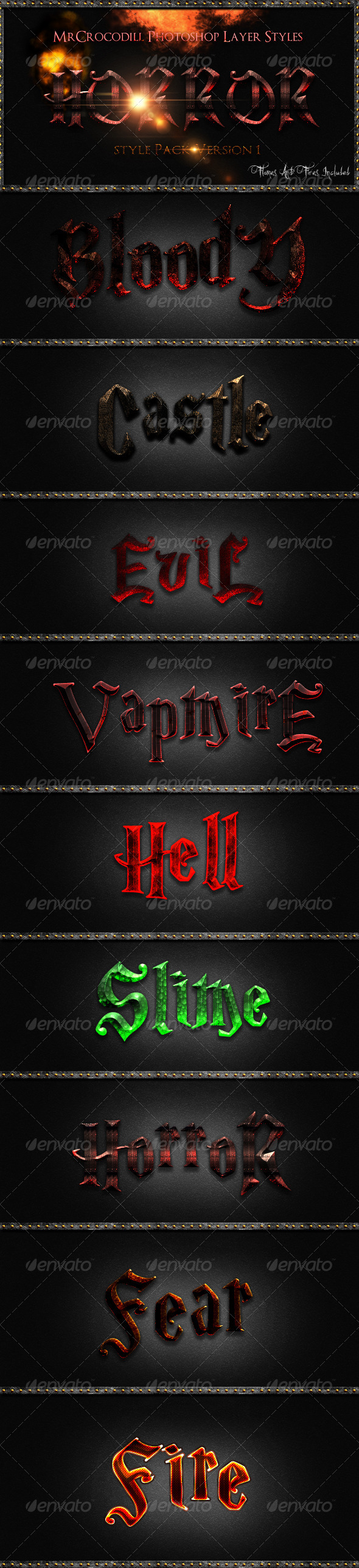 GraphicRiver Horror Styles V1 3260655