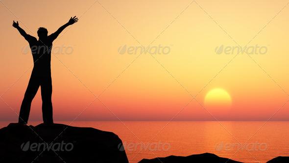 PhotoDune men greeting sun 2108156