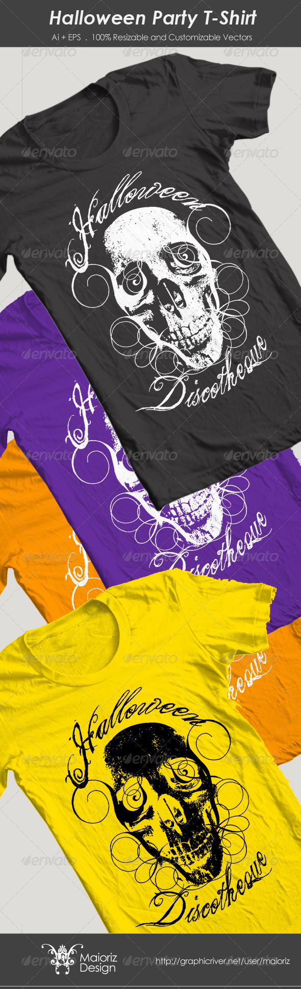 GraphicRiver Halloween Party T-Shirt 3244807
