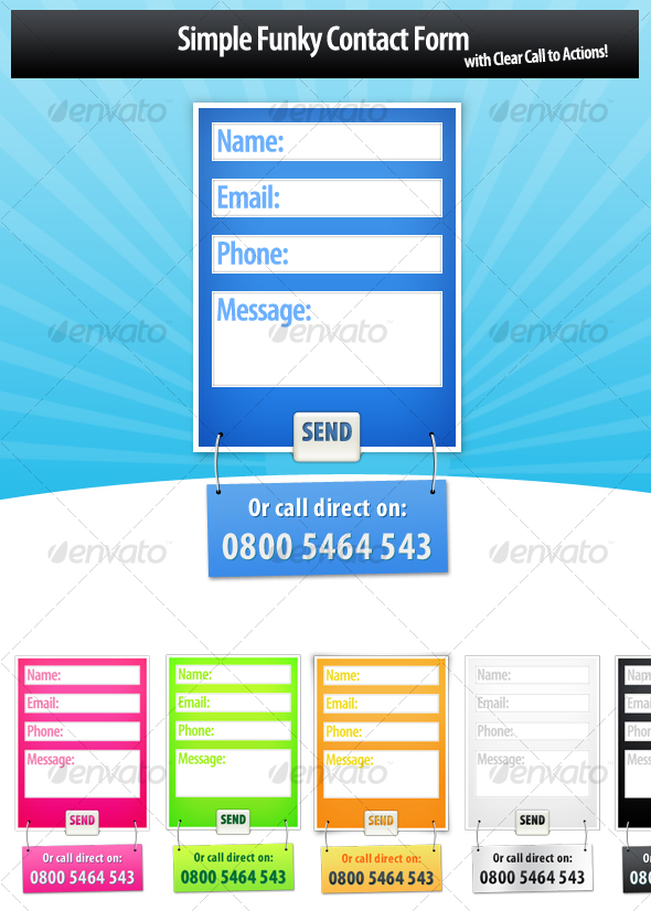 GraphicRiver Modern Funky Form Designs 115506
