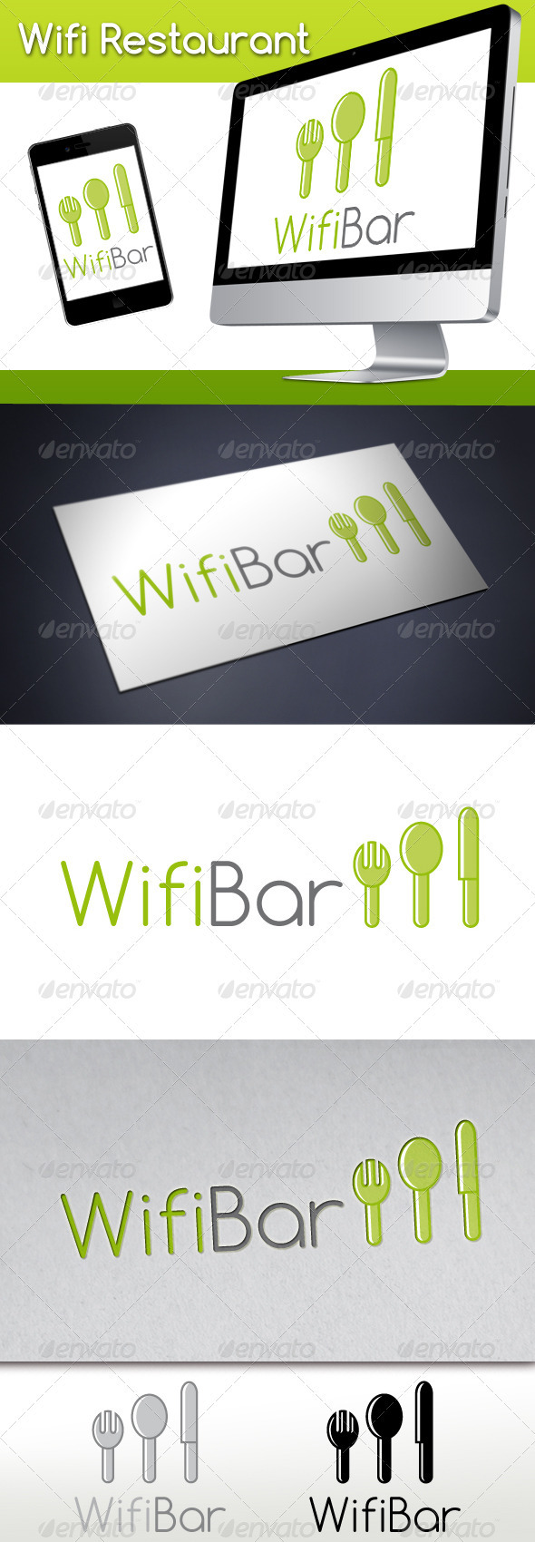 GraphicRiver Wifi Restaurant Logo 3274146