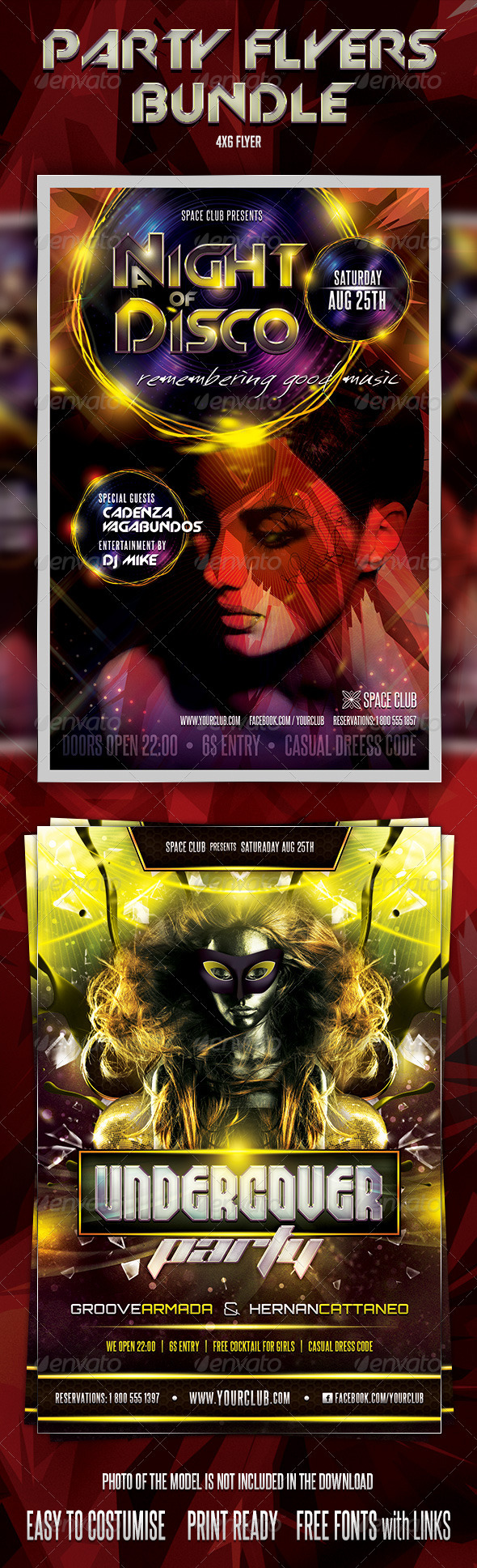 GraphicRiver Undercover Disco Flyers Bundle 3274149