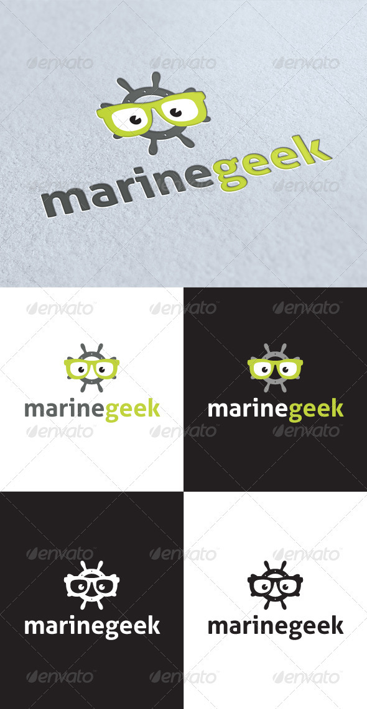 GraphicRiver Marine Geek Logo 3274151