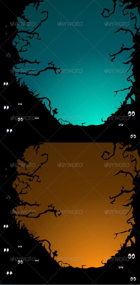GraphicRiver Forest eyes backgrounds 3274495