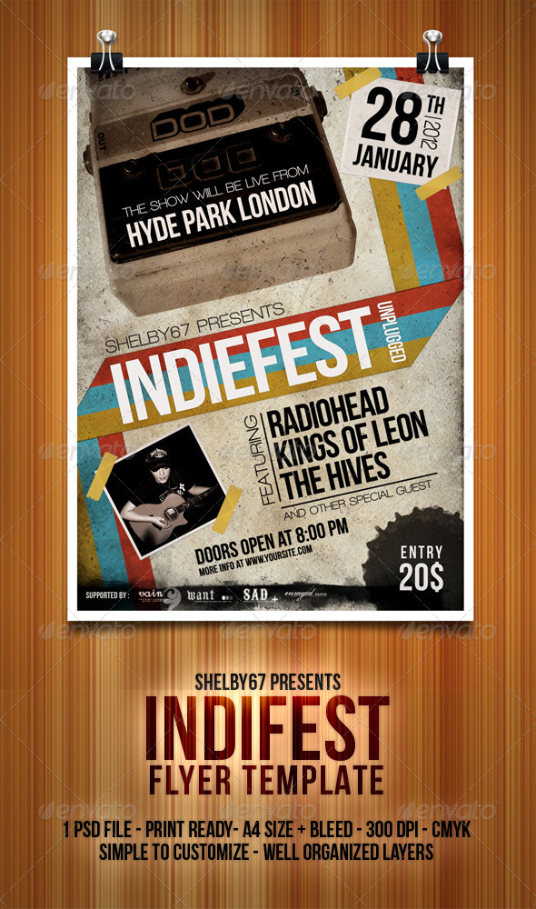 GraphicRiver Indiefest Flyer Poster 3274615