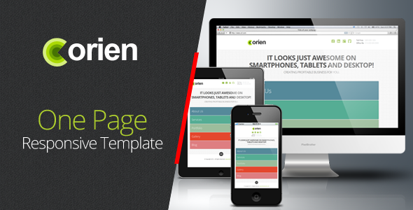 ThemeForest Orien One Page Responsive HTML5 Template 3192495