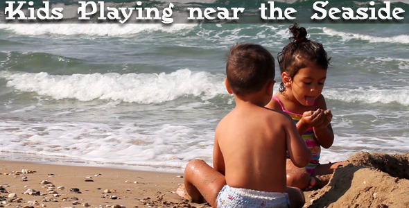 VideoHive Kids Playing Near The Seaside 3274839