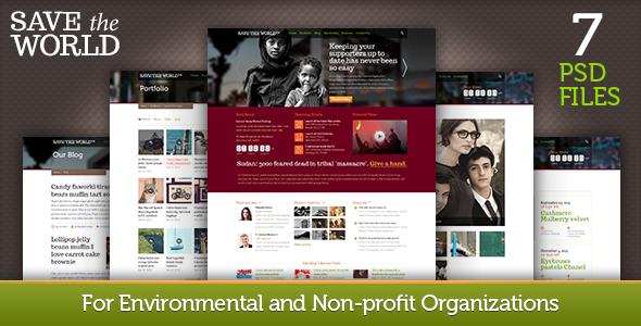 ThemeForest SaveTheWorld for Charity Organizations 3220559
