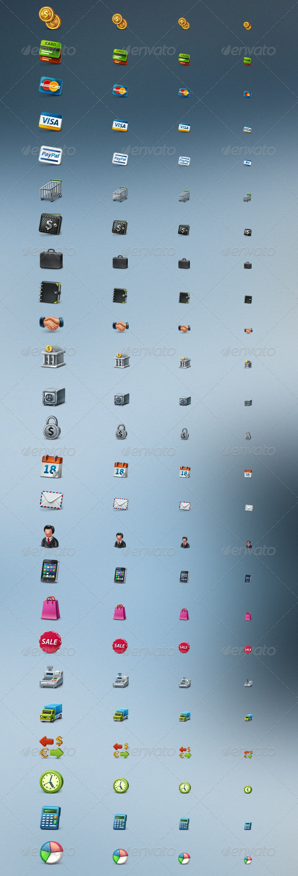 Business and e-Commerce Icons Set - Business Icons