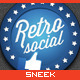 9 Retro Social Media Badges - GraphicRiver Item for Sale