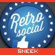 9 Retro Social Media Badges - GraphicRiver Item for Sale